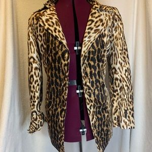 Leopard trench coat size 12